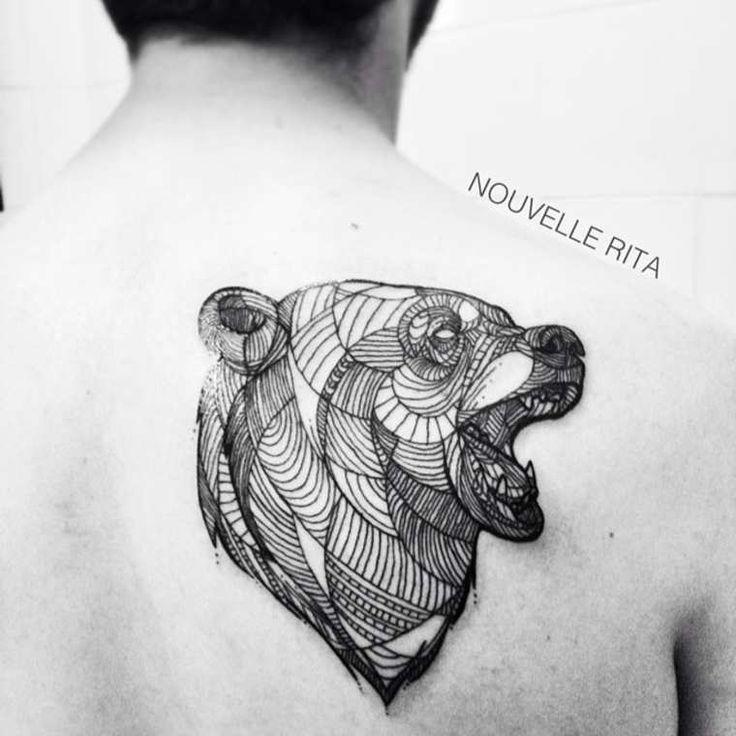 1000 id es sur le th me dessin lion sur pinterest tatouages de diamant diamant de lion et - Tatouage geometrique animaux ...