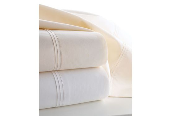 L.L.Bean's 280-thread-count Pima Cotton Percale Sheets -tested and rated #1-combine superior sweat wicking, heat retention, and durability to make the best sheets I've ever slept on. They're about $150 for a queen set.If you prefer the smooth, silky texture of higher thread-count sateen sheets, we recommend Royal Velvet's 400-thread-count Wrinkle-Guard sheets-rated #1 for sateen sheets can find at JC Penny's.