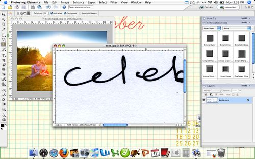 How to put your handwriting into digital projects in photoshop elements