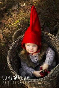 children photography woods gnome magical catching fireflies berries basket