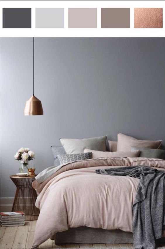 Rose gold, Dusty pinks and grey. Love it❤️ Maybe what I could think about for re-decorating my room.