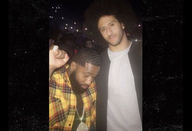 Colin Kaepernick Hits Chris Brown Concert In NYC with Boxing Star (PHOTO)