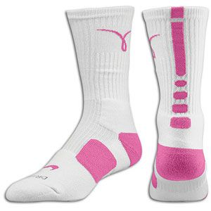 Nike Elite Basketball Crew Sock - Men's - Basketball - Accessories - Pink/white size large
