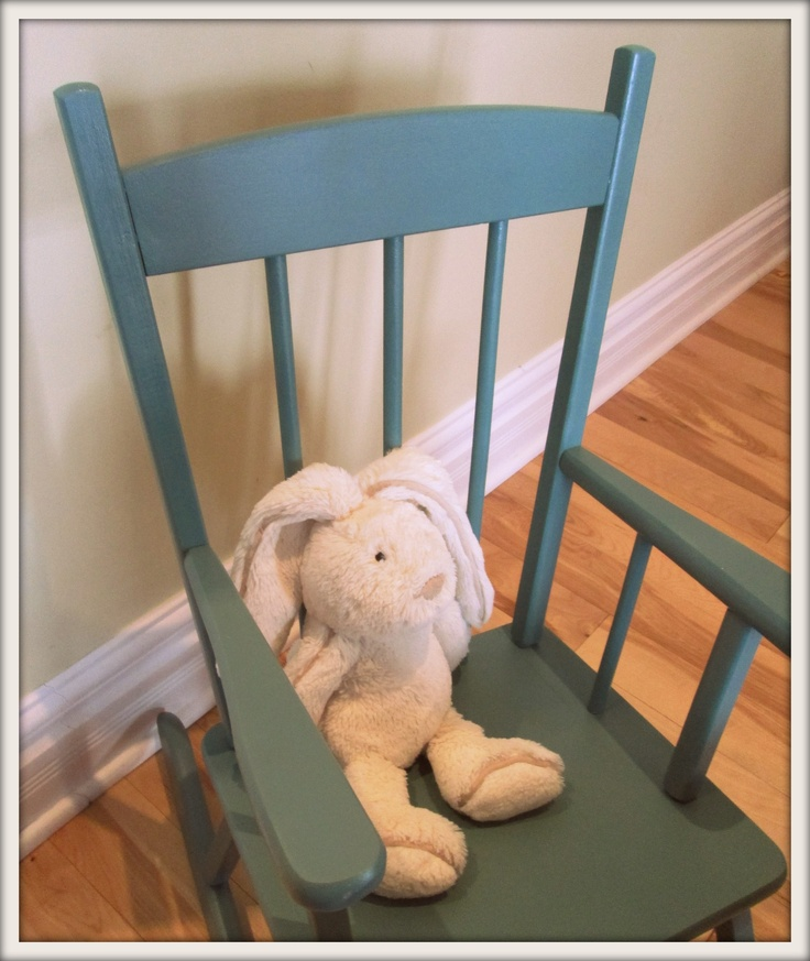 Turquoise Child's Rocking Chair -SOLD