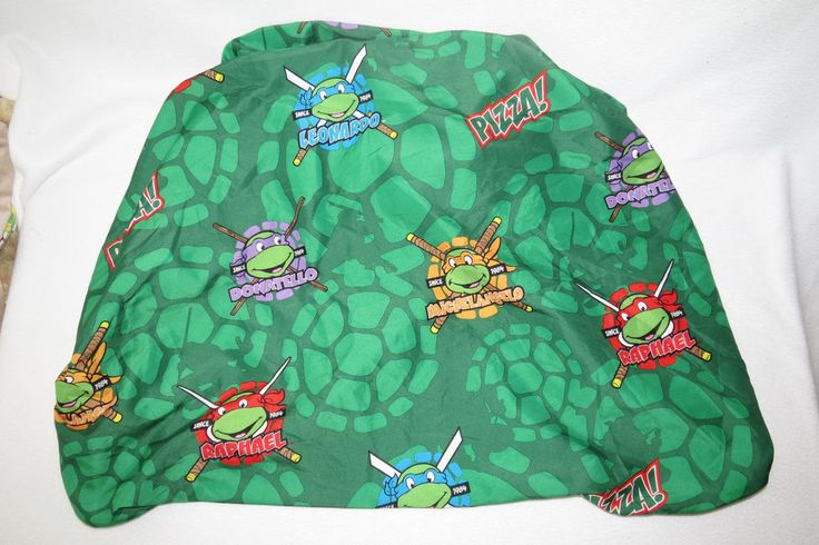 TMNT Teenage Mutant Ninja Turtles Green Vintage-y Fitted Crib Toddler Bed Sheet #JayFranco