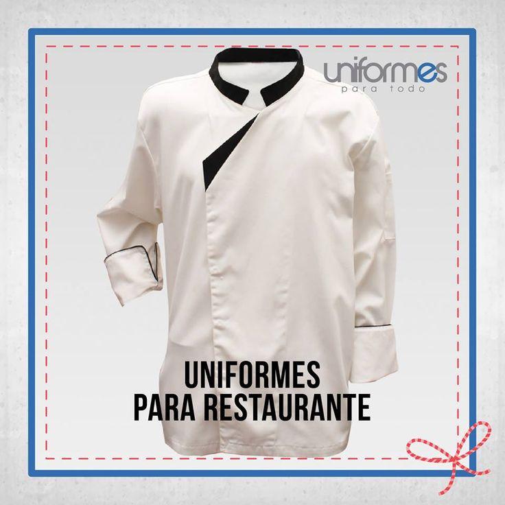 Si eres Chef o trabajas en un restaurante, no dudes en contactarnos para hacer tu uniforme. #UniformesParaTodo #Chef #Restaurante #Marca #Personalizar www.uniformesparatodo.com