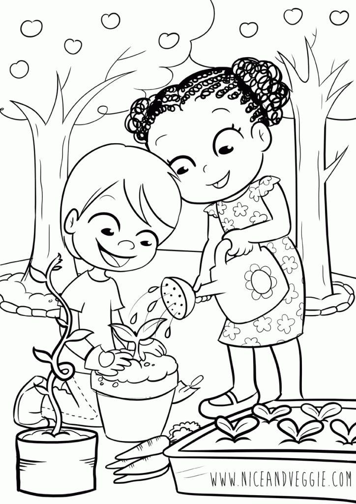kids gardening  malvorlagen für kinder  nice and veggie