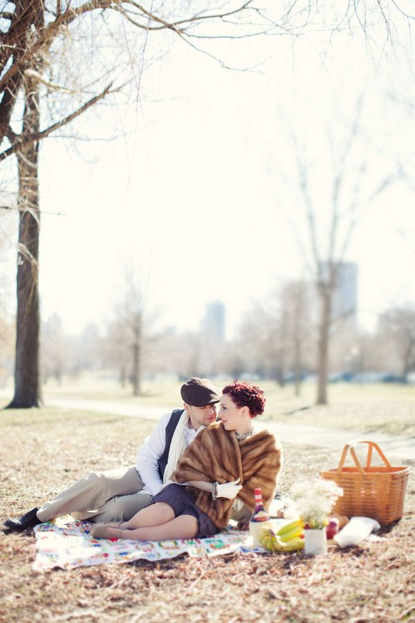 Glamorous Vintage Chicago Engagement Shoot | Bridal Musings | A Chic and Unique Wedding Blog