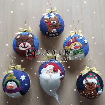 Christmas Ornaments Felting www.facebook.com/eltallerdeluisajh