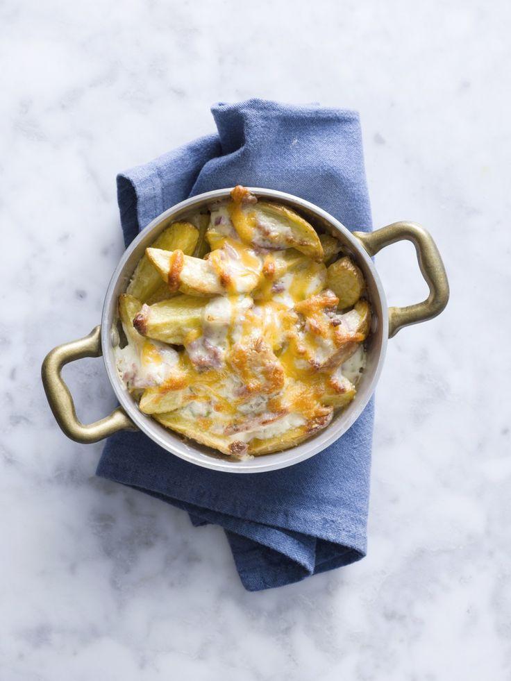 Cheesy potato wedges - Libelle Lekker