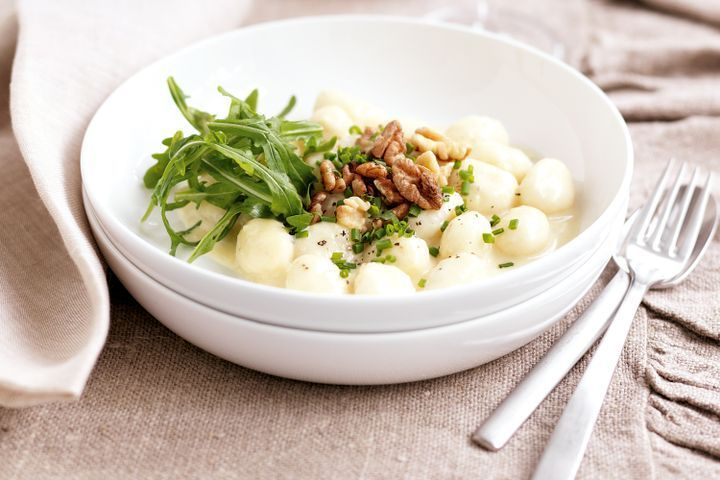 Gnocchi with three-cheese sauce