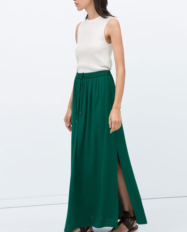 LONG SKIRT WITH SLITS-Skirts-Woman-COLLECTION AW15 | ZARA United States