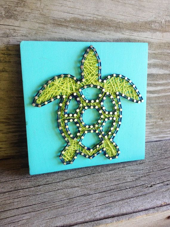 String Art Stringart Turtle String Art Sea Turtle by GrizzlyandCo
