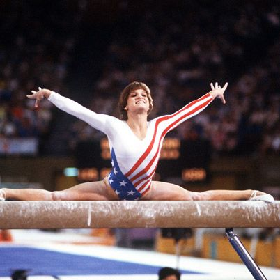 Mary Lou Retton was born on January 24, 1968 in Fairmont, West Virginia. She trained in Gymnastics with Romanian coach Bela Karolyi and won the American Cup and the U.S. Nationals. At the 1984 Olympics in Los Angeles, Retton won a gold medal in the women's all-around. It was the first time a female gymnast outside Eastern Europe won that event. She retired from gymnastics in 1985.