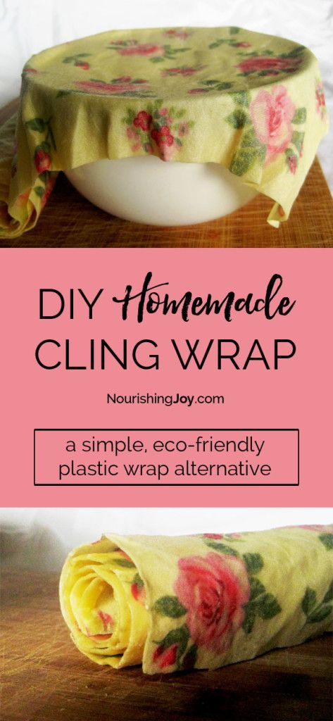 Make your own cling wrap and help your kitchen go plastic free!