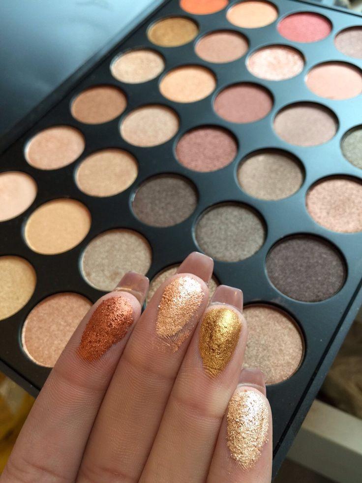 Morphe 35 All Shimmer Palette. #makeup #eyeshadow #neutral #shimmer #morphe…