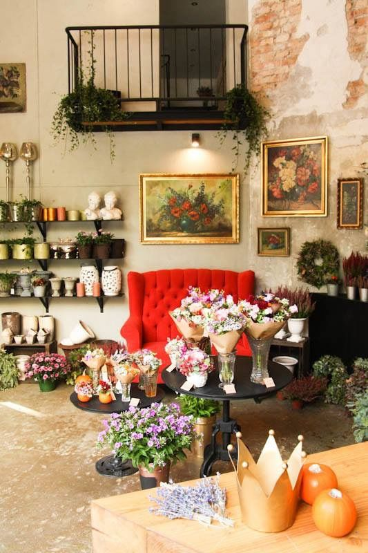 Interior design of our flowershop