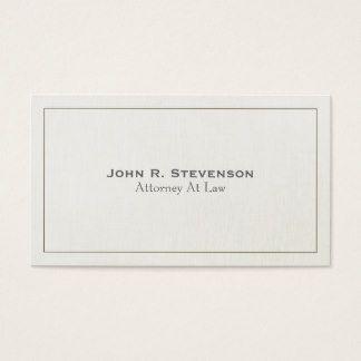 Olhar de linho macio 2 do advogado clássico cartão de visitas