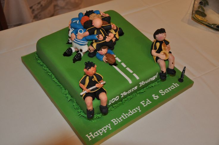 Music loving rugby players cake.