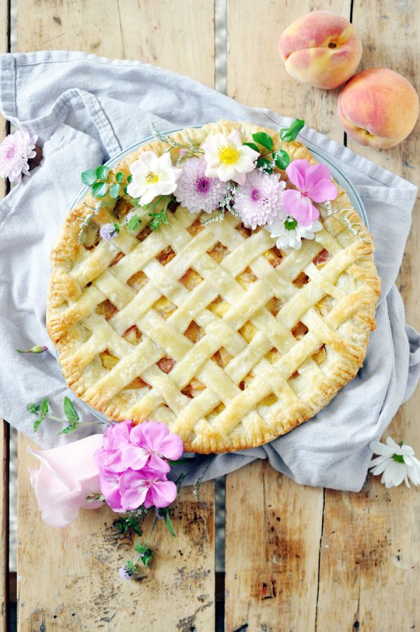 Peaches, brown sugar, AND bourbon, all in one pie? Yes, please!