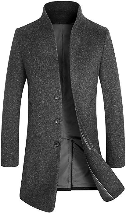 Aptro Herren Mantel Lange Business Ubergangs Mantel 1681 Grau L Amazon De Bekleidung Herren Mantel Wolltrenchcoat Wintermantel Herren