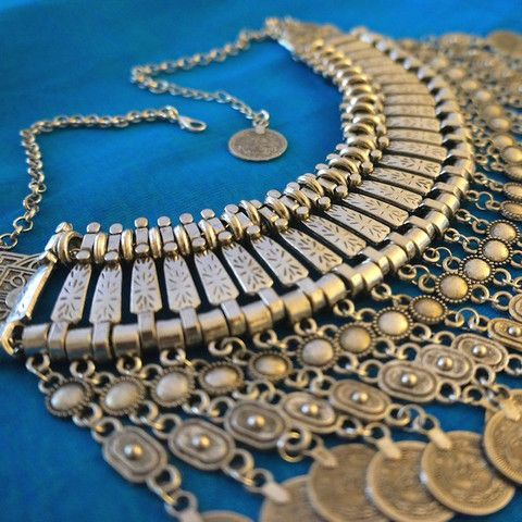 Gypsy Coin Silver Choker Necklace – Stuff I Want