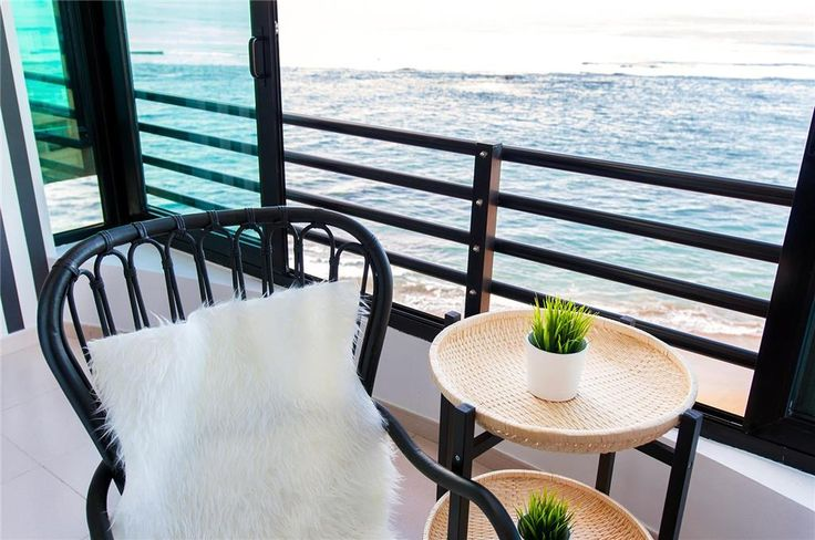 Enjoy the terrace with the smell of sea whilst enjoying the view over the beach....