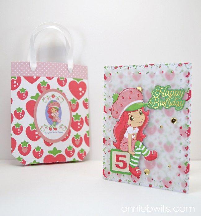 Print & Cut Strawberry Shortcake Card & Gift Bag