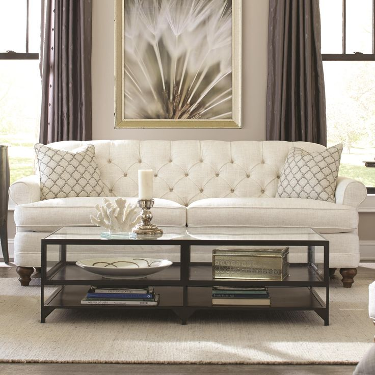 Robin Bruce Donovan Traditional Sofa with Turned Feet - Sprintz Furniture - Sofa Nashville, Franklin, and Greater Tennessee