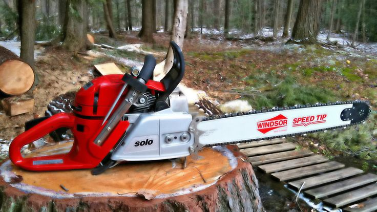 Solo chainsaw fresh and ready to go.