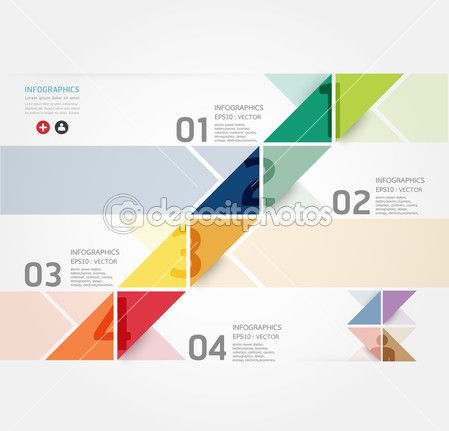 Modern Design Minimal style infographic template , can be used for infographics , numbered banners , horizontal cutout lines , graphic or website layout vector — Stock Illustration #26879067