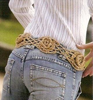 cinturon tejido