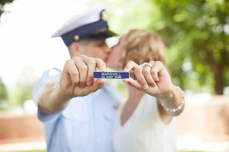 Military wedding. Coast Guard