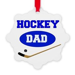 Hockey Dad Snowflake Ornament - makes a great holiday gift