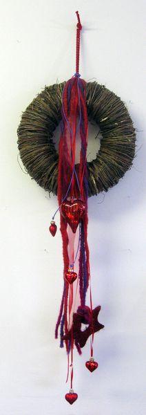 Weihnachtsdeko - Türkranz weihnachtlich - ein Designerstück von kunstbedarf24 bei DaWanda