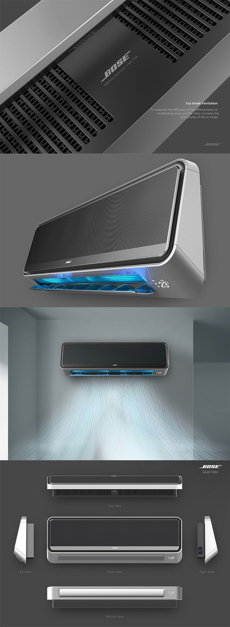 This breezy 'Bose' isn't your average speaker, instead of sweet tunes, it blasts ice cold air cause it is actually an exploration into what an AC unit from audio equipment maker Bose might look like... READ MORE at Yanko Design!