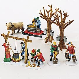 """Item #: 56.56599  """"Tapping The Maples""""    Set of 7  Size: 1.25, 2.5, 2.75, 3.5, 5  US Retail:   $75.00   Collector Notes:  •Introduced December, 1997  •Retired May, 2001"""