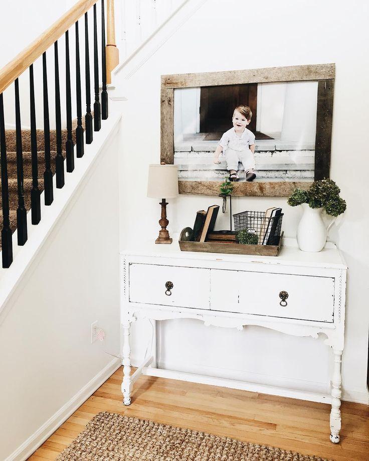 morgancastlehome (@morgancastlehome) • Instagram photos and videos Entry way, White decor, Entry Table decor