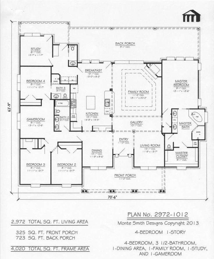Best 25 simple house plans ideas on pinterest simple for 3000 sq ft gym layout