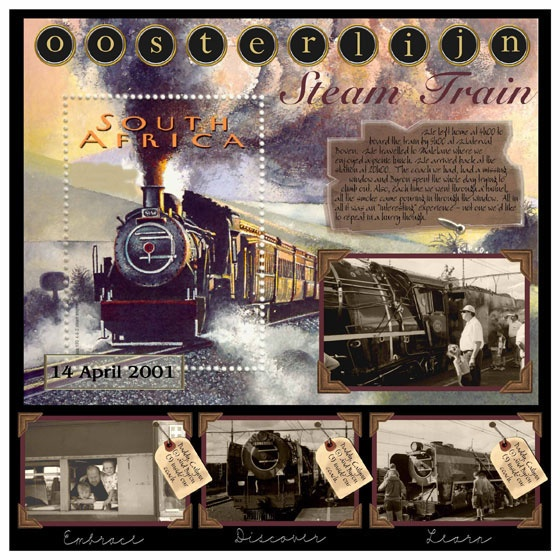 A trip on the only remaining steam train in South Africa.