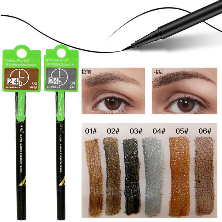Hengfang marca ojos maquillaje tatuaje de larga duración negro marrón ceja maquillaje resistente al agua lápiz de cejas líquido lápices