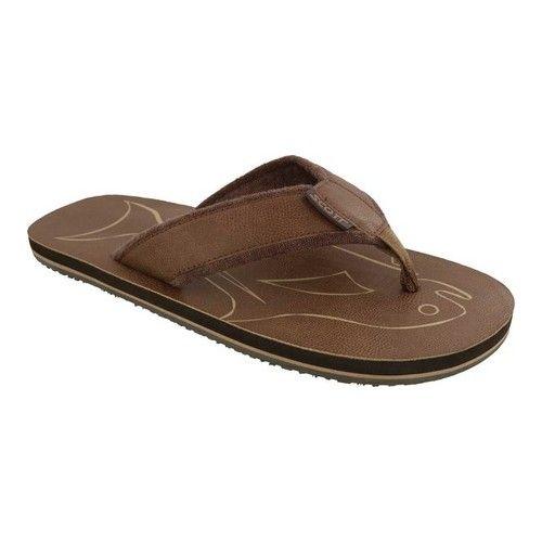 8cdd717d7ff3 Men s Scott Hawaii Papio Flip Flop - Brown Polyurethane Leather Sandals