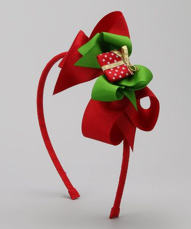 Take a look at this Red Present Bow Heaband by Picture Perfect Hair Bows on #zulily today!