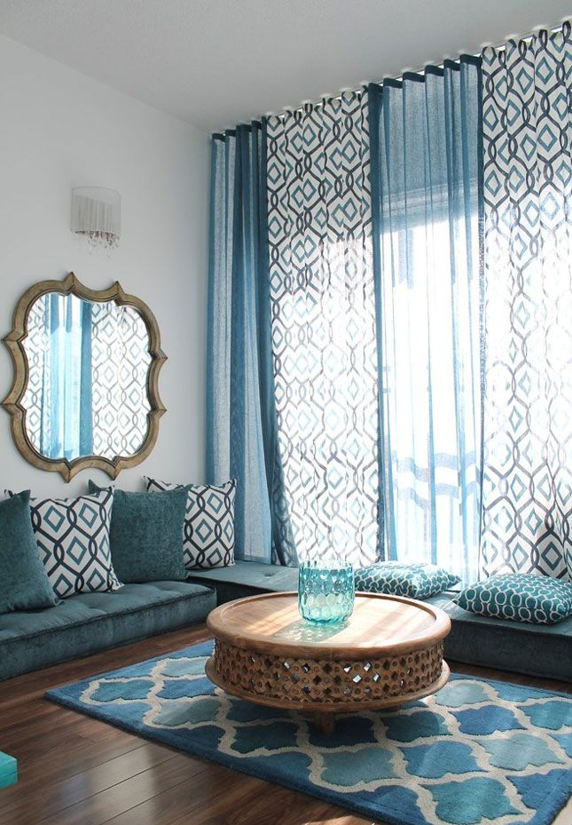 Love this window treatment, the voiles light and airy and give the impression of a much larger window!