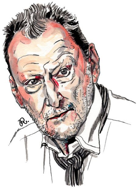 Master of the Month :: Lucian Freud.  Drawn by Rama Hughes