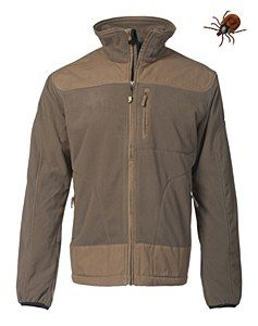 Rovince Ergoline Fleece made from the Patented ZECK-Protek treatment which is effective against Ticks, Midges, Mosquitos and many other biting insects.