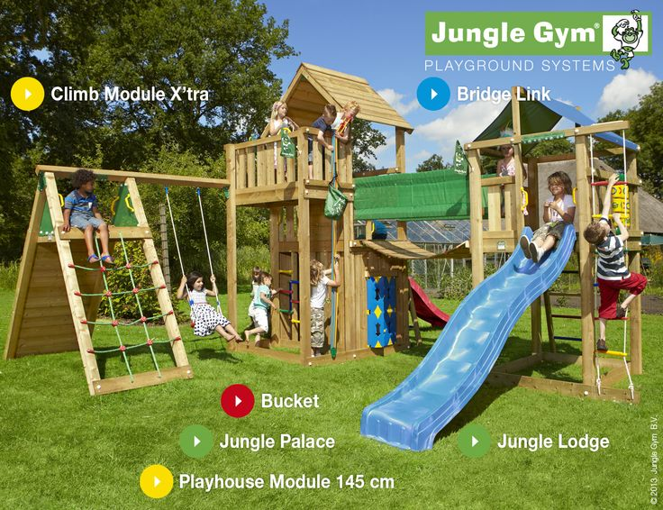 Junge Gym Playparadises designed with the larger garden in mind
