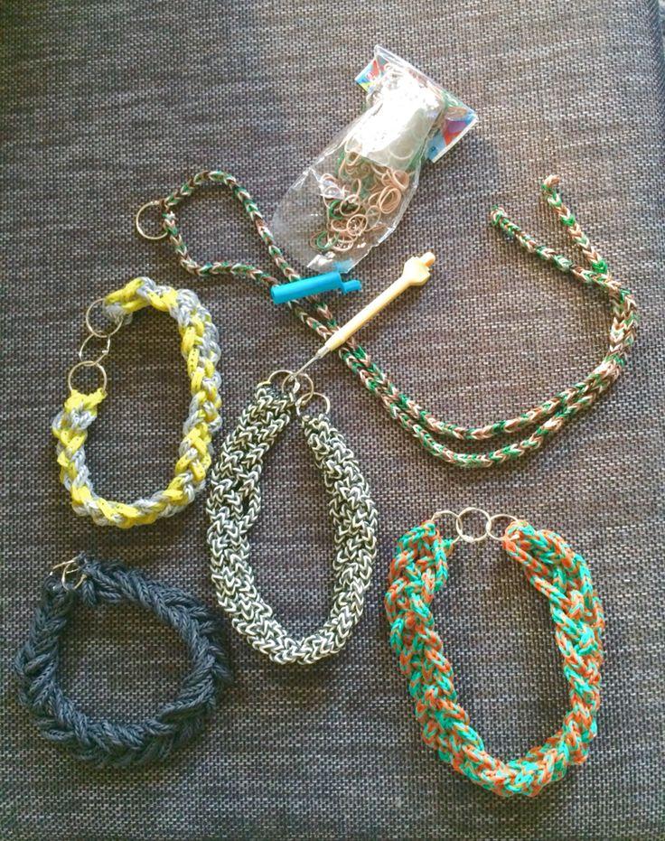 Rainbow loom necklace