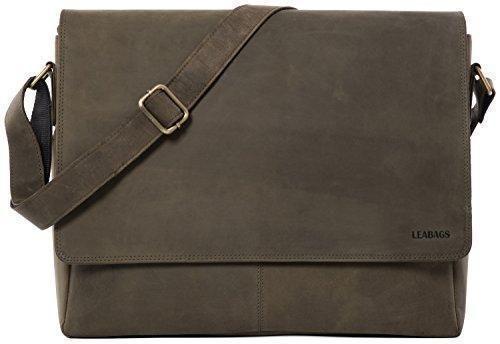Oferta: 239.9€ Dto: -38%. Comprar Ofertas de LEABAGS Oxford bolso bandolera de auténtico cuero búfalo en el estilo vintage - OlivaVerde barato. ¡Mira las ofertas!