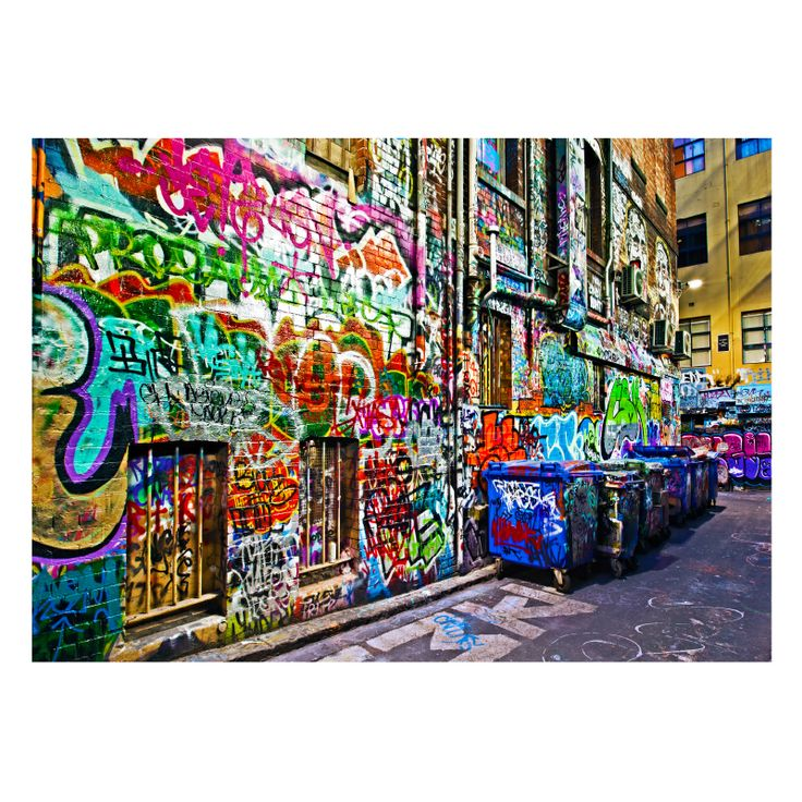 Melbourne Graffiti Laneway | Stretched Canvas/ Printed PanelThe Block Shop - Channel 9